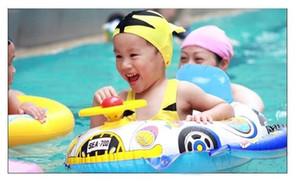 Bébé Piscine Siège siège à flotteur gonflable pour les enfants Sécurité Infant Toddler Siège pour bateaux piscine Anneau avec poignée style de voiture