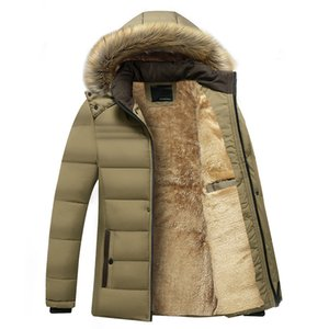 Mens Long Jacket Designer Coats Mens Velvet Coat Winter Clothes Middle-aged Men Plus Thick 2019 Padded Designer Jacket Winter Luxury Hhijx