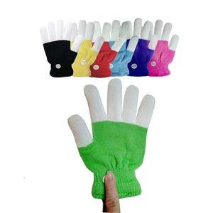Children LED Finger Light Up Gloves,Small 6 Modes Flashing LED Warm Gloves R7RB