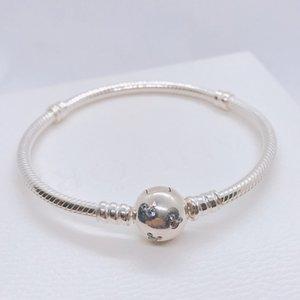 Nouveau 100% 925 bracelet en argent sterling 590731CZ avec LOGO gravé pour pandoras charmes 10 pcs / lot vous pouvez mixte taille Bateau Libre