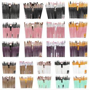 20Pcs set Professional Makeup Brushes Set Cosmetic Makeup Brushes Foundation Eyeshadow Brush Fan Kit Powder Makeup Beauty Tool Kit KKA6410