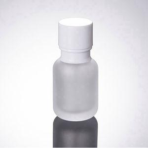 50ML Frost Glas Kosmetik-Flaschen 1,7 Unzen Glas Lotion Flaschen 50CC Glass Press Flasche mit Cap Empty Bottle RRA2450