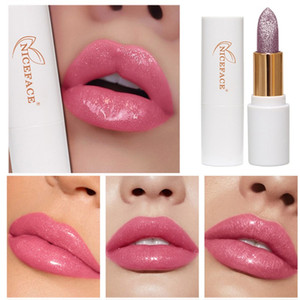 Glitter Lipstick Moisture Lip Natural Lip Tint Temperature Changed Color Lipstick Lasting Waterproof Shimmer Makeup hot