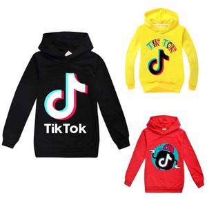 Tik Tok Unisex Bambini manica lunga con cappuccio Boy / Girl Tops teenager del rivestimento bambini Felpa con cappuccio del cappotto casual in cotone Abbigliamento