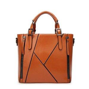 gute Qualität Frauen PU-Leder-Handtaschen 2019 neue Ankünfte Umhängetasche schwarze Frauen Taschen Vintage Messenger Bag Büro Ladie Aktentasche