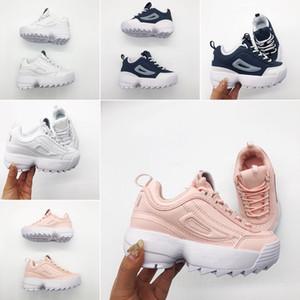 FILA Vendita calda 2019 Scarpe da corsa per bambini Scarpe sportive per attività sportive all'aperto Baby Boy Girl Sneakers alta qualità Nero Grigio Arancione