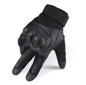 Мода-Military Tactical резина Hard Knuckle Полный перчатки пальцев Army Paintball Стрельба Airsoft велосипедов Кожа PU для мужчин