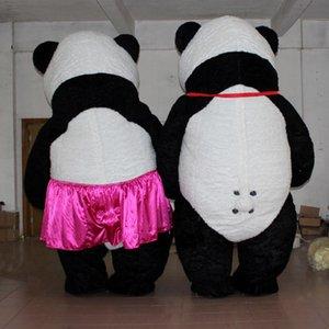 2M / 3M Хэллоуин Надувные китайский Panda костюм талисмана партии Cosplay игры Платье Реклама Настроить взрослых Для 1.7м до 1.88M