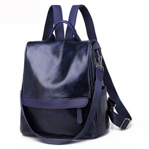 2020 Casual Couro PU Backpack mulheres sacos escolares à prova d'água para Meninas Adolescentes Alta Qualidade Moda Viagem Tote packbag