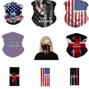 Магии I Cant Breathe Face Mask ВС резистентных шарф американский флаг печати Face Cover Открытый Велоспорт шарфов Многофункциональные маски Bandana Подарки
