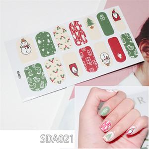 10 시트 / PC 14 팁 전체 네일 아트 폴란드어 스티커 키트 반짝 스팽인 스티커 크리스마스 자기 점성가 손톱 디자인 매니큐어 세트