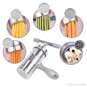 Presse manuelle de fabricant de nouilles presse coupe-vilebrequin fruits Juicer Cookware avec 5 moules de pressage faisant la vaisselle spaghetti