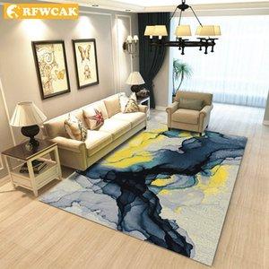 RFWCAK 80 * 120cm Europa Creativa Tipo de tinta de impresión alfombra del pasillo Felpudo antideslizante alfombra de baño absorber agua Estera de la cocina / Alfombra