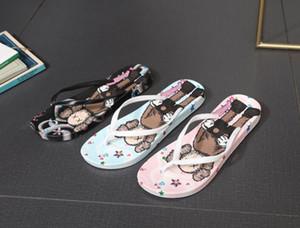2020 Summer Graffiti Imprimer Chaussons Femmes Tongs Slipers Hip Hop Beach Street Slipers Casual flip-flops