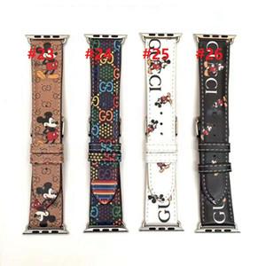 Горячий продавец дизайнер для Apple Watch PU кожаные ремешки 42мм 38мм 40мм 44мм регулируемый ремешок для iWatch 5 4 3 2 Замена ремешков