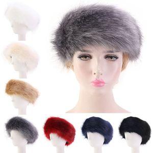 Kadın Faux Fur Kış 7 renk saç bandı Kadınlar Lüks Moda kafa sarın Peluş Earmuffs Kapak saç aksesuarları JY865