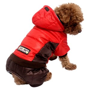 Thickening Pet Dog Cat Costume 4 Legged Warm Coat Cotton Padded Outfit Autumn Winter Fashion Hoodie For French Bulldog Small Cat