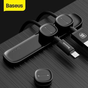 Fare Tel Organizatör için ucuz Sarıcı Baseus Kablo Düzenleyici Manyetik Kablo Yönetimi USB kablolar Tutucu Silicione Esnek Masaüstü Klipler