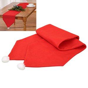 2017 176 * 34cm Neujahr Tischläufer rote Weihnachtsmütze Deko-Hüte für Party Heim Tabelle Abdeckung Staubdichtes Runners High Quality