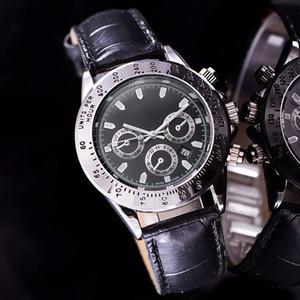 marca designer de moda mens relógios de luxo Tag cronógrafo nenhum movimento data automática dia homens relógio de couro pulso relógio de quartzo trabalho