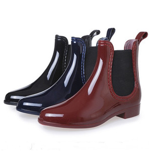 Rubber Shoes Women Rain Boots For Girls Ladies Walking Waterproof PVC Women Boots Winter Woman Ankle Martins Rainboots