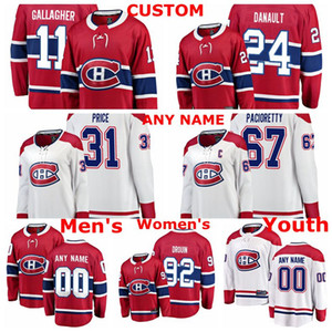 Montreal Canadiens jerseys Jonathan Drouin Jersey Phillip Danault Carey Precio Max Pacioretty Brendan Gallagher Rojo Blanco hockey jerseys Cust