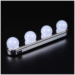 스튜디오 글로우 메이크업 슈퍼 밝은 4 LED 전구 휴대용 화장 용 거울 라이트 메이크업 라이트