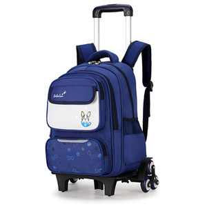 imperméable enfants Trolley école Sacs de filles Roues Sacs de voyage les enfants sac à dos bagages à roulettes amovibles cartables