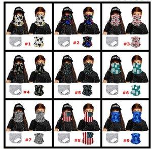 PM2.5 Magic Filter Mask Sciarpe bandiera USA kdis bambini affrontano all'aperto sciarpa al collo Turbante solare protettiva in bicicletta Bandane Mask Designer LJJA4076