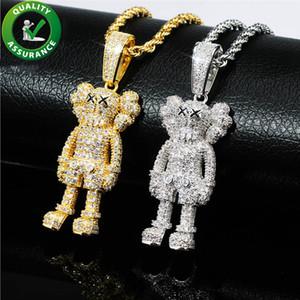 Heló hacia fuera la joyería de Hip Hop colgante de diseño para hombre de lujo del collar de diamante de Bling muñecas de la historieta colgantes encantos Hiphop Moda rapero Accesorios