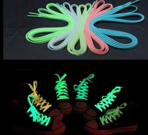 Luminous Neon Shoelace Sport Hombre Mujer Zapato Laces Resplandor en la oscuridad Fluorescente Shoeslace para zapatillas Zapatos de lona