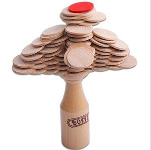 خشبية التراص كتلة الاطفال زجاجة طوب كتل كتل نموذج بناء التحدي Jenga لغز لعبة بار النادي الهتاف لعبة العقلية الدعائم