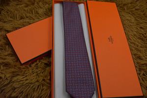 남성 캐주얼 비즈니스 웨딩 휴일 음악 넥타이를 위해 레드 클래식 에디션 패션 브랜드 남성 품질 100 % 실크 넥타이 브랜드 선물 상자에게 8cm 넥타이