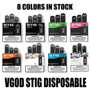 100% originale VGOD STIG monouso Pod dispositivo 3Pcs pacchetto 270mAH batteria 1,2 ml Cartuccia Vape Pen Kit PK EON STICK POSH PLUS