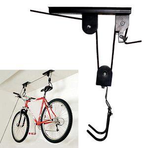 Display Pulley Saving Space Ceiling Mounted Storage Accessories Hook Holder Metal Bicycle Rack Garage Durable Bike Lift Hanger