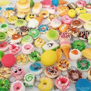 30 В 1 Kawaii Squishy Игрушки Slow Восходящая Сожмите Прекрасные Squishies Симпатичные мягкие мини хлеб торт мороженое игрушки телефон ремни Дети Оптовая