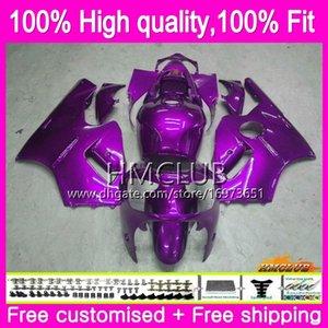 Injeção para a Kawasaki ZX12R ZX1200 CC ZX 12R 12 R 1200 71HM.58 1200cc ZX12R 02 03 04 05 06 2002 2003 2004 2005 2006 OEM New Fairing roxo