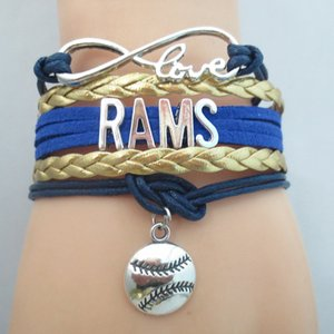 Infinity Love Rams Baseball Team Bracelet Customize Sports Friendship Bracelets B09491