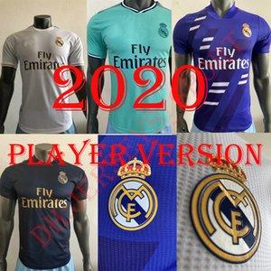 Player Version Real Madrid 2020 #7 HAZARD #9 BENZEMA home Soccer Jerseys 19 20 Men away blue #8 KROOS #16 JAMES 3rd green Football Uniforms