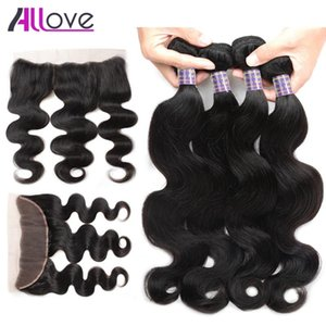 Wholesale Cheap 8A Brazilian Hair Body Wave With Lace Frontal Closure 4pcs Hair Bundles With 13x4 Ear to Ear Lace Frontal Closure Weaves