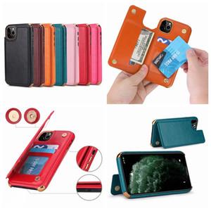 TPU souple Chromé pour iPhone 11 XS MAX XR 8 7 6 6S Plus de luxe placage PU cuir ID carte de poche fente Support à Phone Housse peau
