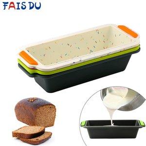 Rectangulaire en silicone Pain Moule Pan Moule Toast Pain Gâteau Plateau à gâteau carré long moule de cuisson antiadhésifs Outils de cuisson