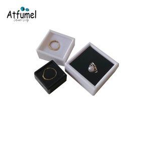 Atacado Gemstone Diamond Jewelry Box diamante solto Display Case Gem Anel Jóias de armazenamento de contentores Beads Box Black White
