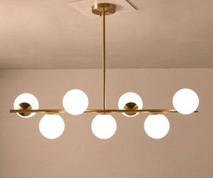 Современные светодиодные люстры Лофт Арт Декор Болл висячие Свет для кухни Гостиная Спальня в помещении столовой Люстра LLFA