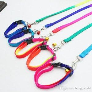 Rainbow Dog Leashes Nylon Adjustable Pet Dog Collar Necklace Rope Collar Pet Supplies 1*120cm