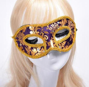 Волоконно-маска Halloween Половина маска маскарад маска игрушки мужской Венецианскую партия реквизита Детские игрушки мода пункт YSY53Q