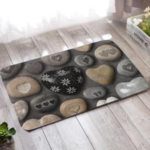 3D Stone Printed Bodenmatte Küche Teppich Fußmatte Anti-Rutsch-Teppich Wasseraufnahme Küche Teppich Badematte Innen Wohnzimmer Teppich RUIYUN649