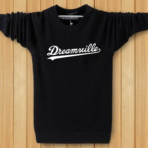Hiphop Harajuku Hoodies Men O-neck Dreamwille Letters Sweatshirts Tops Spring Pullovers