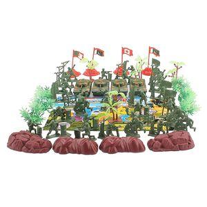 52Pc Modèle Playset Action Figures Hommes Soldier Set 4 Flags