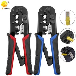 Cable Clamp Crimping Tool Network Cable Ratchet Crimping Pliers for 4P 6P 8P RJ-11 RJ-12 RJ-45 Y200321